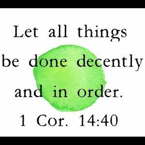 1 Corinthians 14:40